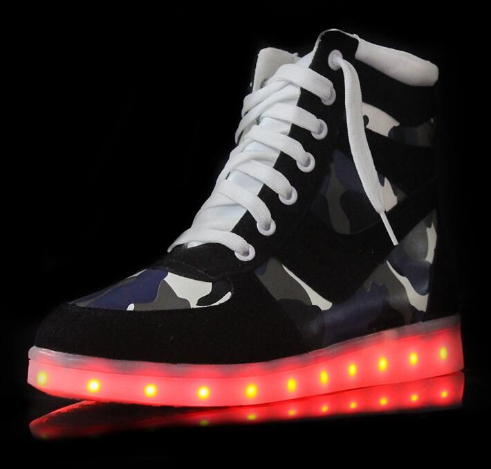 >> Click to Buy << High Top Zapatos para Shoes Mujeres de Baile Iluminadas LED zapatos de La Luz Hasta Zapatos Luminosos con Luces Para Caminar Zap #Affiliate