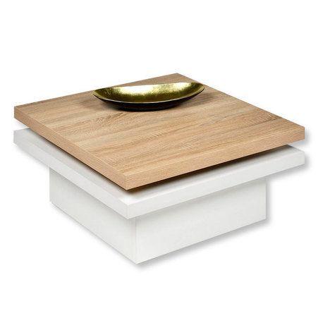 Couchtisch TANGO - drehbare Platte - quadratisch