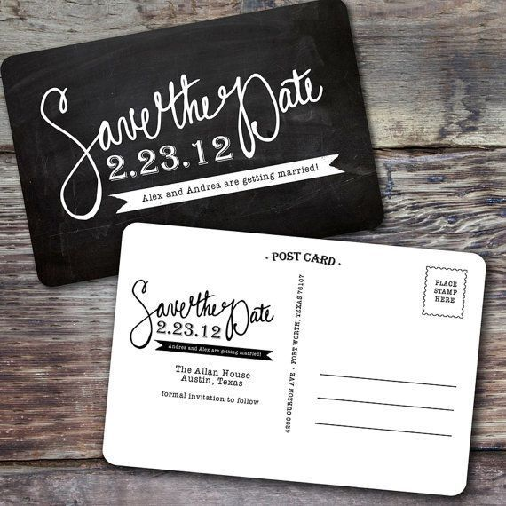 Chalkboard Style Save The Date