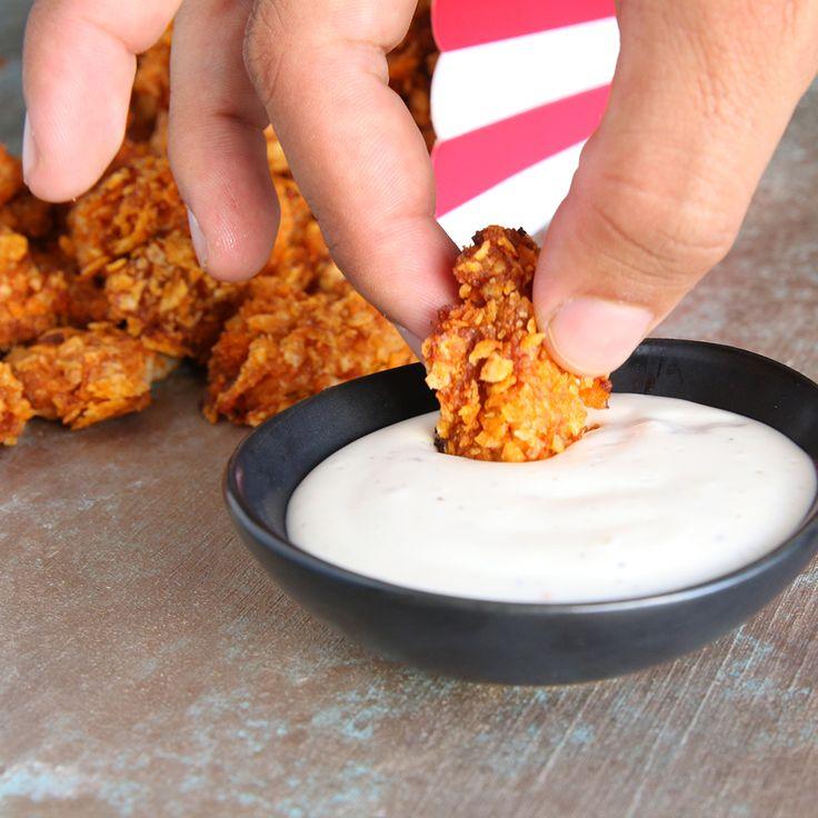 3-Ingredient BBQ Popcorn Chicken
