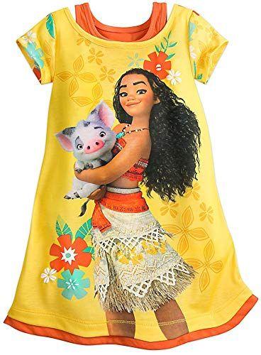 ZHBNN Moana Girls Nightgown Cartoon Pajamas Princess Dress