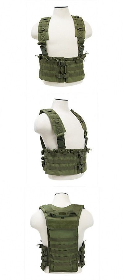 Clothing and Protective Gear 159044: Ncstar Green Airsoft Tactical Vest Ar Chest Rig W/ 6 Ar Mag Pouches Cvarcr2922g -> BUY IT NOW ONLY: $34.5 on eBay!