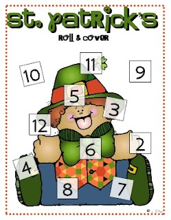 FREEBIE-Roll & Cover-St. Patrick's Day: Math Games, Pat S, Marching St. Patties, Math Ideas, St. Patrick'S Day, Math Activities, Rolls, Pats, Saint Patrick'S S
