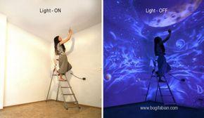 La artista Bogi Fabian crea murales usando una pintura sensible a los rayos ultravioletas. Así, en la oscuridad sus diseños revelan hermosos dibujos que se mantenían ocultos ante la luz artificial....