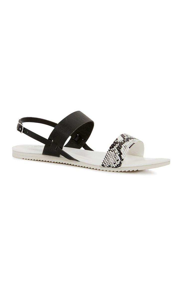 Black sandals primark - Primark Monochrome Strap Sandal