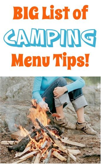 BIG List of Easy Camping Menu Tips! ~ from TheFrugalGirls.com ~ you'll love these delicious camping food recipe ideas for your next trip! #recipes #thefrugalgirls