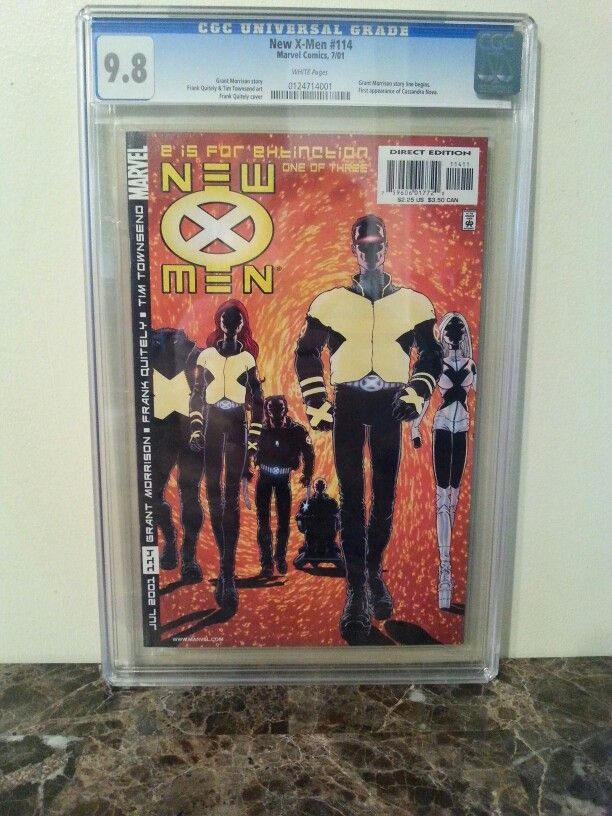 New X-Men #114. CGC Graded 9.8. Grant Morrison story begins. First Appearance of Cassandra Nova. Email investcomics@gmail.com with offer if interested. #cgc #comicsales #comicbooksforsale #comicsforsale #grantmorrison #gradedcomics #investcomics #xmen #newxmen #cyclops #cassandranova