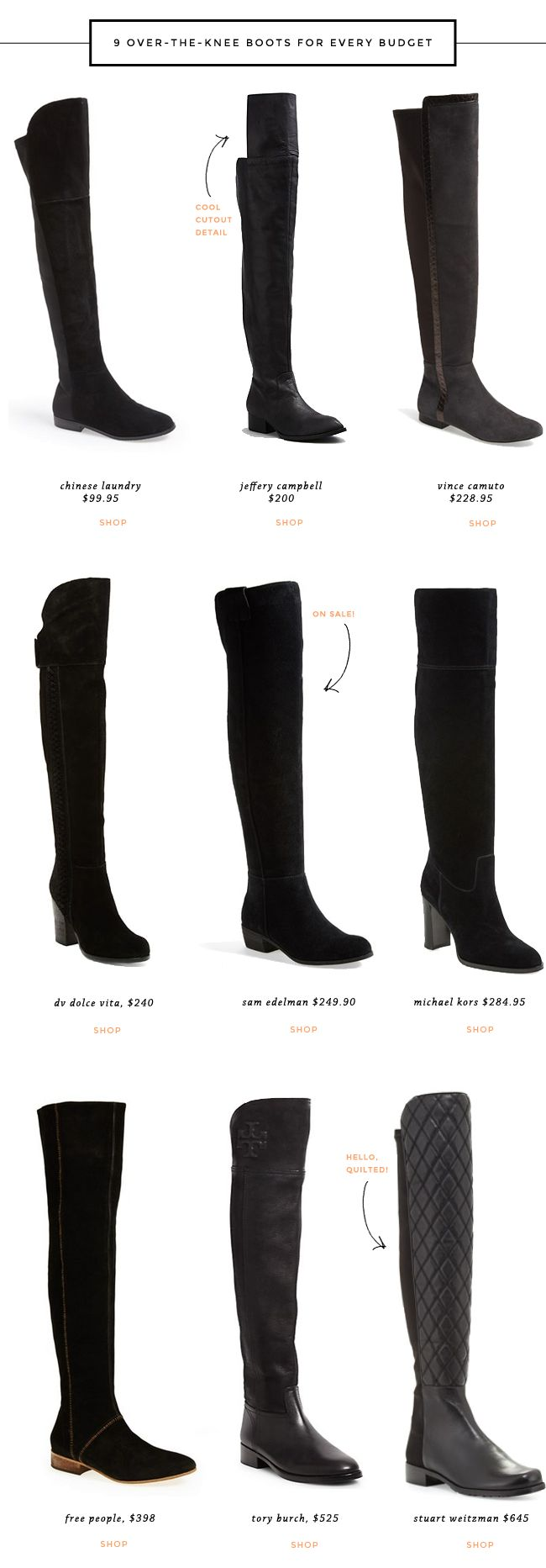 cute over-the-knee boots for fall