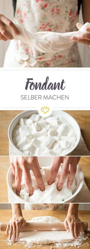 fondant selber machen das rezept mit geling garantie recipe food pinterest cake food. Black Bedroom Furniture Sets. Home Design Ideas