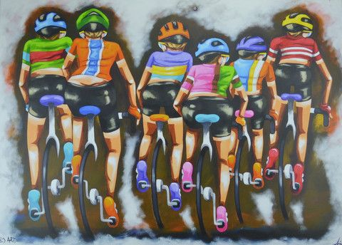 Fiona - The Ladies Bunch – Stretched Canvas Sport art by ArtSportive