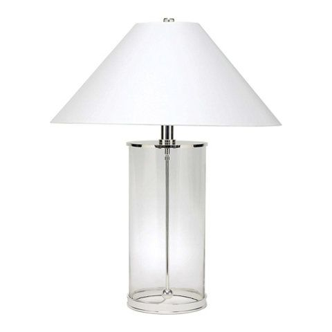 modern table lamp in polished silver table lamps lighting