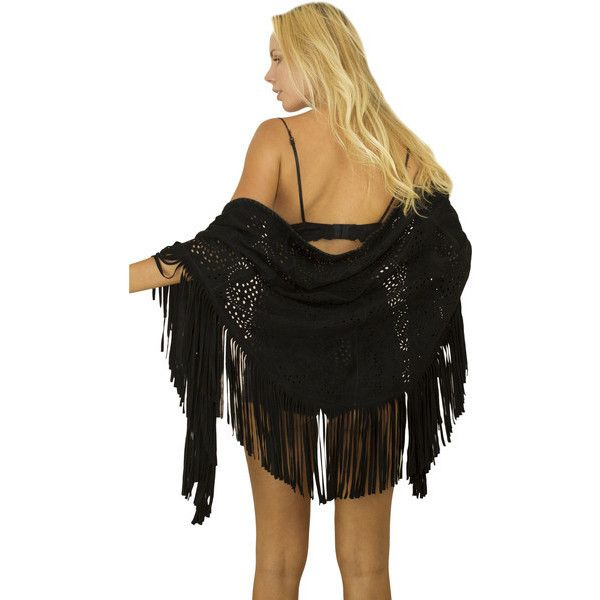 Hudson Suede Fringe Shawl ❤ liked on Polyvore featuring accessories, scarves, fringe, bohemian scarves, suede shawl, shawl scarves, oblong scarves and patterned scarves