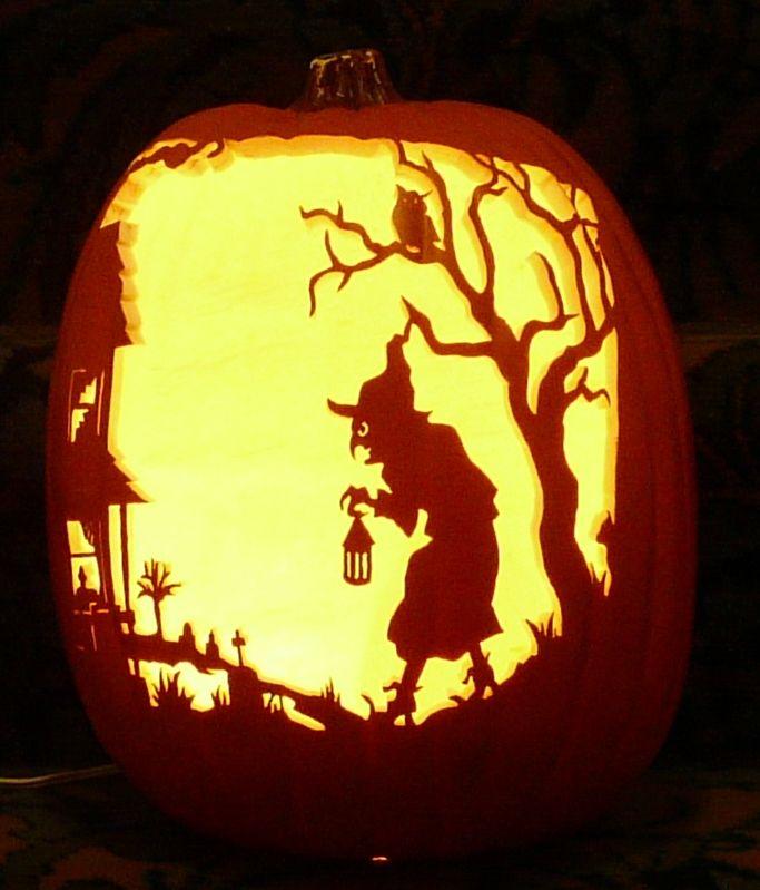 Halloween pattern i carved on a foam pumpkin