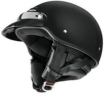 """The motorcycle half-helmet type, also known as the """"brain bucket"""" or """"skull caps"""" are more popular for scooters and motorcycle cruisers"""