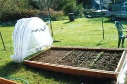 a hoop house that slides open and closed