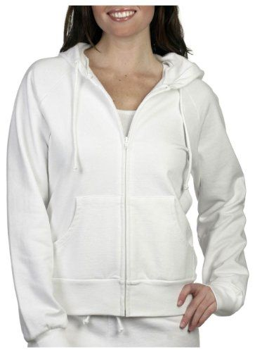 Ladies' Raglan Full-Zip Hooded Sweatshirt, Color: White, Size: X-Large  //Price: $ & FREE Shipping //     #sports #sport #active #fit #football #soccer #basketball #ball #gametime   #fun #game #games #crowd #fans #play #playing #player #field #green #grass #score   #goal #action #kick #throw #pass #win #winning