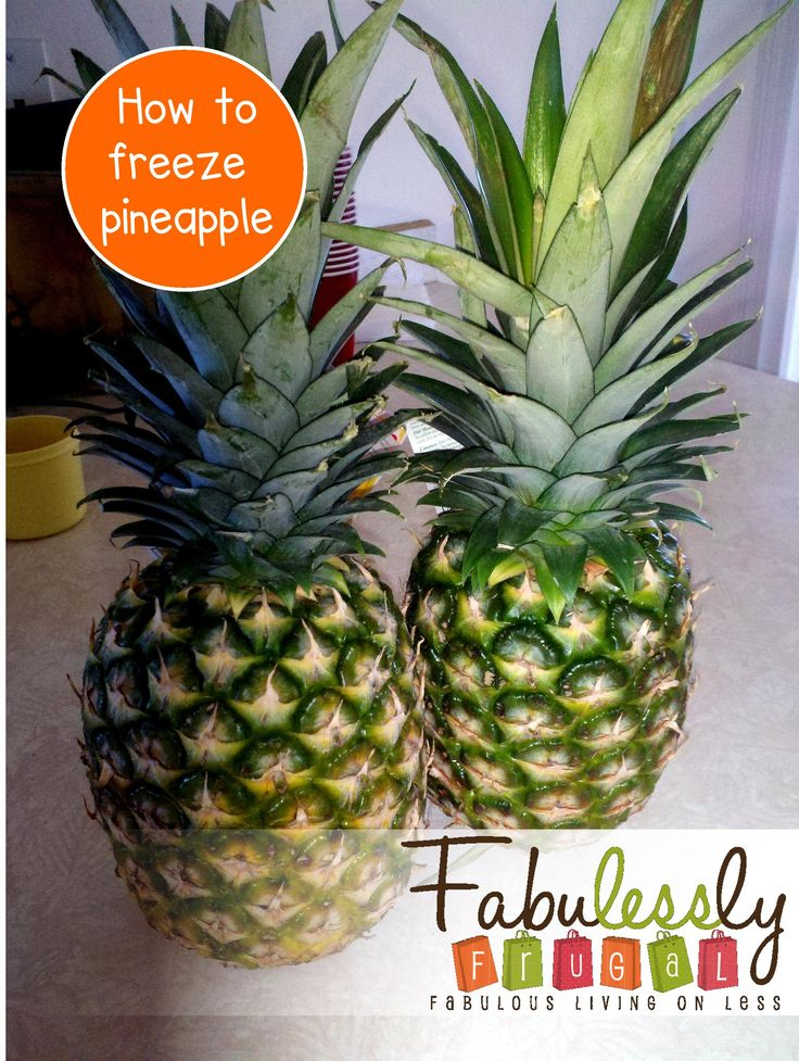 How to freeze pineapple in just a few simple steps...great for smoothies and homemade frozen yogurt!  http://fabulesslyfrugal.com/2012/06/how-to-freeze-pineapple.html