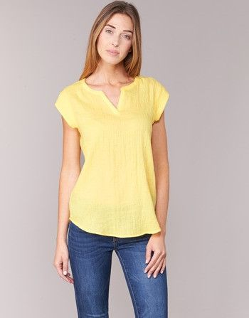 Camiseta cuello V color pastel