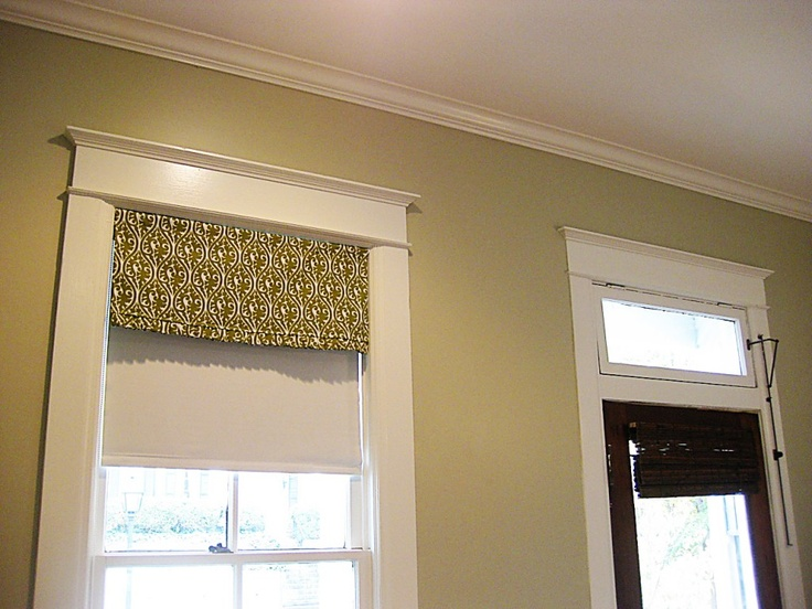 Simple Valance On A Tension Rod For The Home Kitchen
