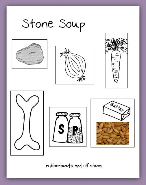 Stone Soup is wonderful book for retelling. Make a flannel board for story retelling, and print out our Stone Soup recipe.