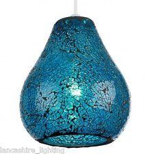 Contemporary 1 Light Ceiling Light Non Electric Blue Mosaic Shade NE-AUDLEY-BLU