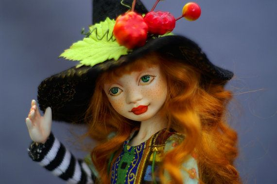 BJD Doll  Little Witch by ElenaMakhovaDolls on Etsy