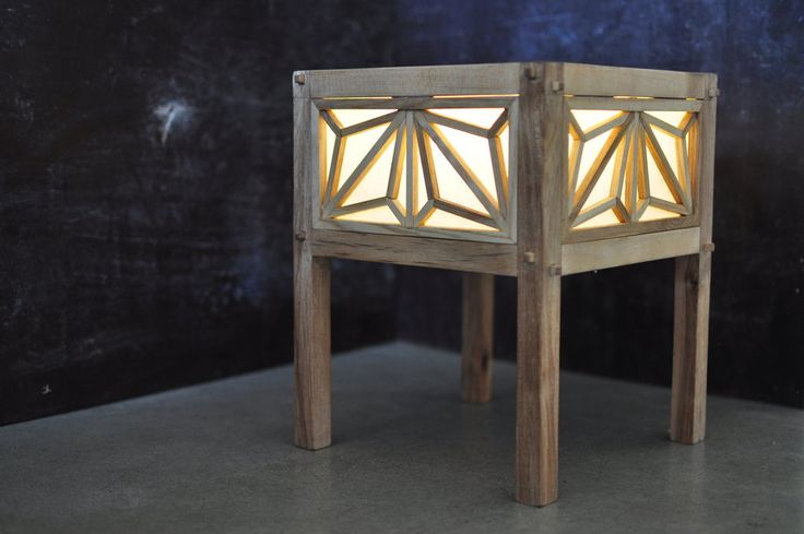 Lamp with Kumiko Panels from Pallet timber - by tfscottwoodworking @ LumberJocks.com ~ woodworking community