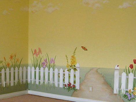 Роспись на стене в детской