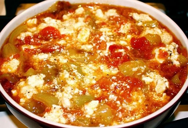 FRIED PEPPERS WITH TOMATOES AND EGGS This recipe is so Macedonian and something that can be seen on every Macedonian table, especially in summer. This dish is something we eat for several times a month during hot summer days.