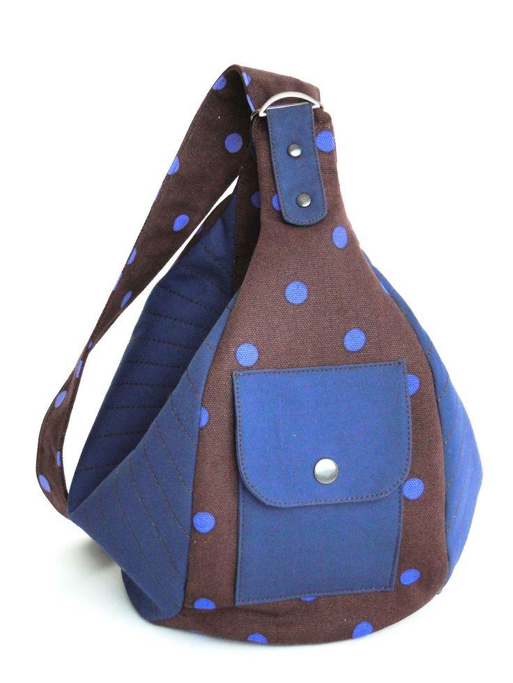 "Made by Arina Rasputina: Сумка-рюкзак ""Лазурь в шоколаде"""