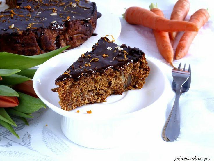 sojaturobie: Wegańskie i bezglutenowe ciasto marchewkowe