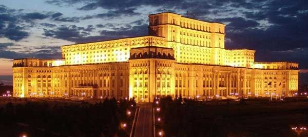 The Palace of the Parliament in Bucharest.