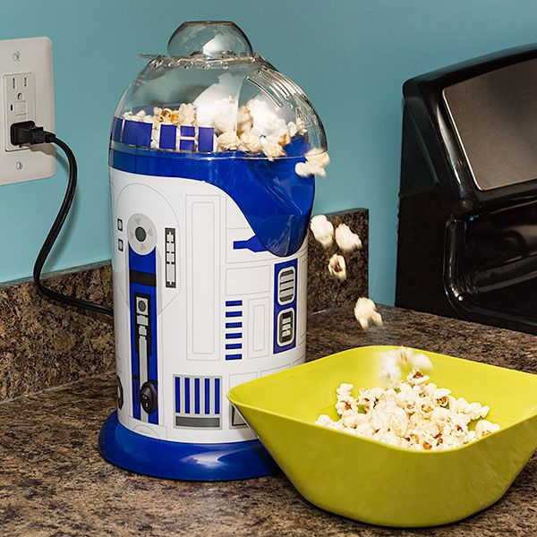 An R2-D2 popcorn maker from Thinkgeek:  But Artoo knows that a loyal droid's…
