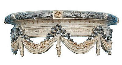 Olde World Swag Canopy Bed Crown, Creme Gold Silver Color Finish