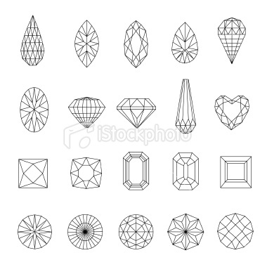 Diamond design elements Royalty Free Stock Vector Art Illustration