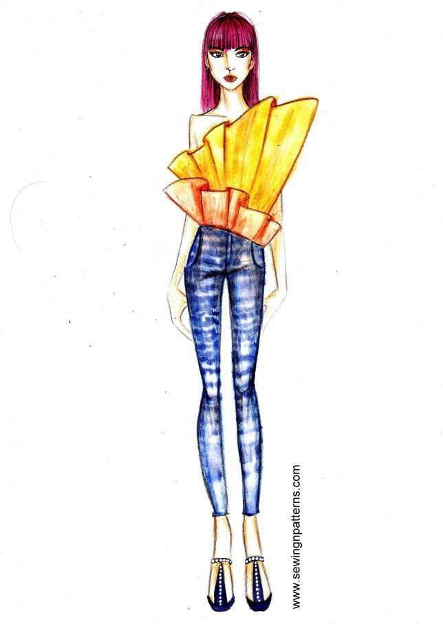 5 Minute fashion sketches series sketchin5 (sketch 4