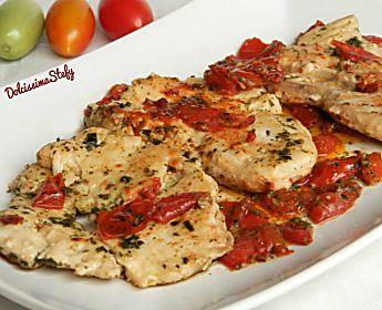 Pesce Smeriglio con Pomodorini,ricetta