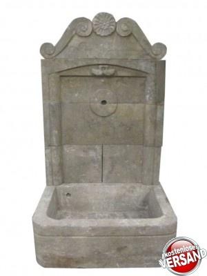 Wandbrunnen, Gartenbrunnen, Wasserbecken, Brunnen, Steinbrunnen