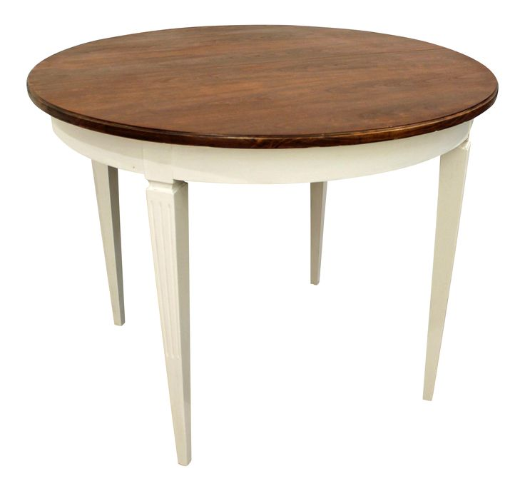 Round Extendable Table Part - 44: French Country Regency-Style Round Extendable Dining Table