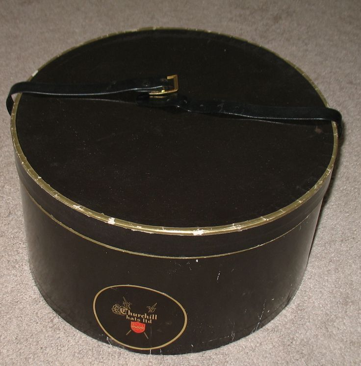 vintage hat boxes | Vintage Churchill Hats Ltd. Oval Hat Box - Hat Boxes