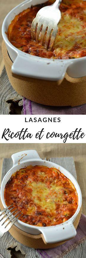 Lasagnes ricotta, courgette et coulis tomate