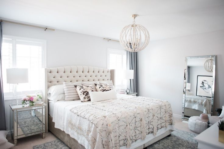 Master Bedroom Reveal with Rugs USA's Allentown MA03 Hand Tufted Wool Floral Ogee Damask Rug!