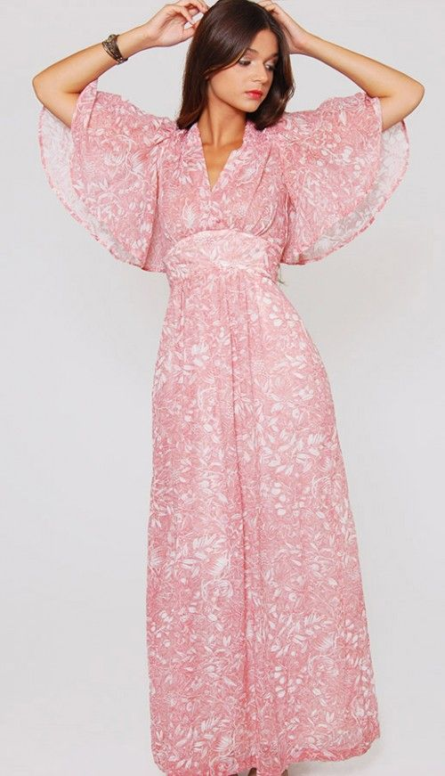 Dusty Rose Maxi at lotusvintage.com