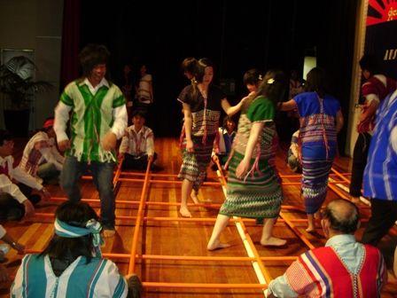 Karen people bamboo dance in Karen New Year.