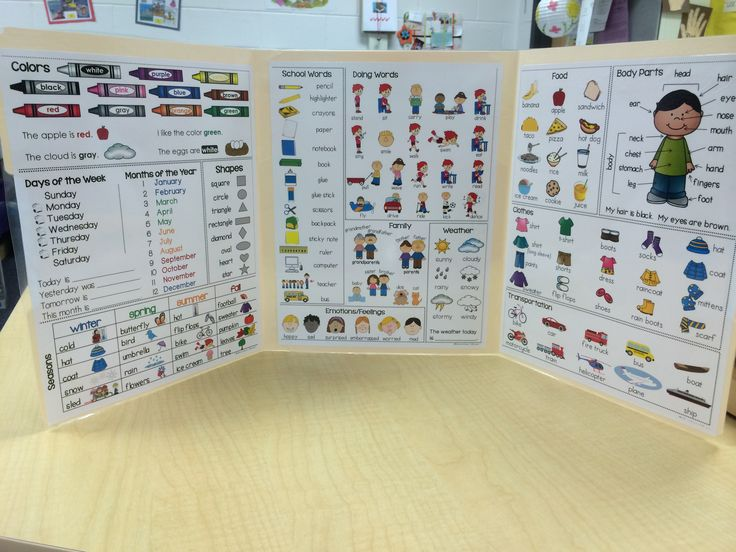A vocabulary mini-office, the perfect resource to support your beginning English Language Learners.