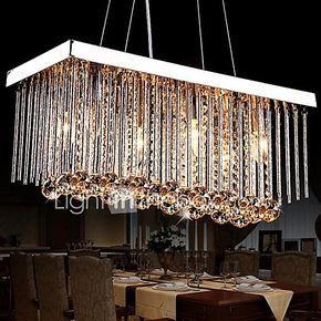 Lámparas Araña , Moderno / Contemporáneo Tradicional/Clásico Cromo Característica for Cristal MetalSala de estar Dormitorio Comedor 2017 - $1405.98