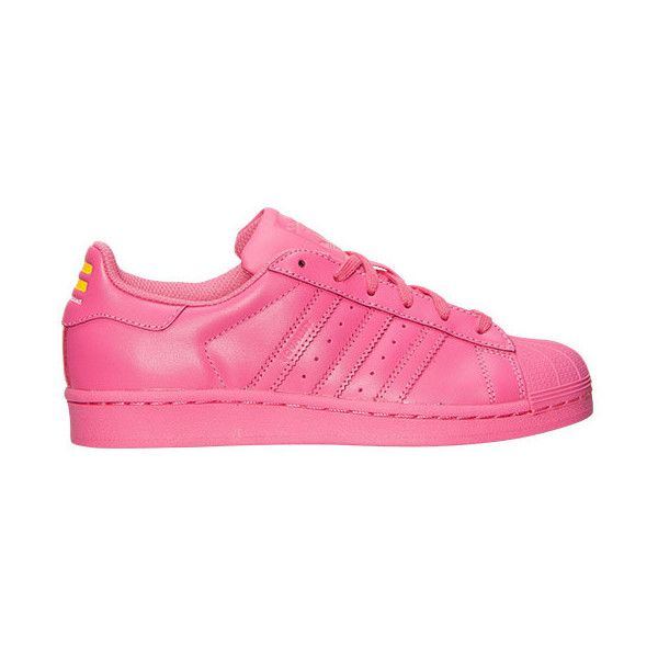 Girls' Grade School adidas Superstar x Pharrell Williams Supercolor... (£61) ❤ liked on Polyvore featuring shoes, adidas, sneakers and zapatillas