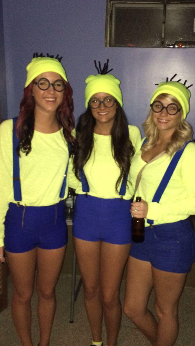 Minion costumes minus the tiny shorts!