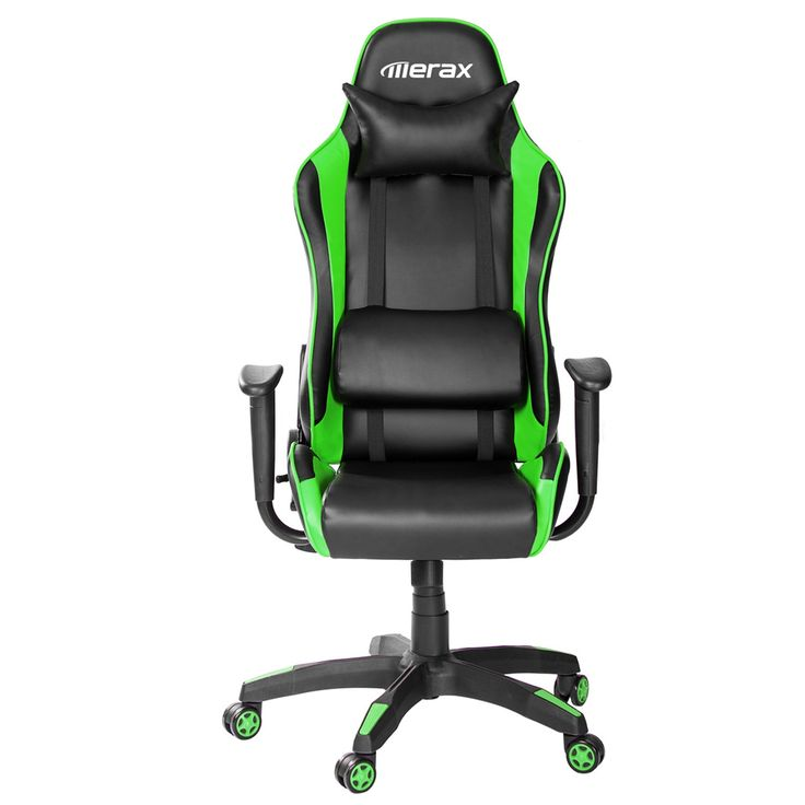 Merax High Back Executive Racing Chair Ergonomic Series Reclining Office Chair with Back Support and Footrest (Green)