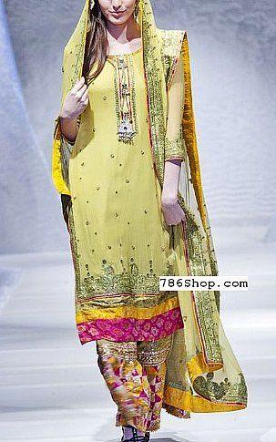 Light Green Crinkle Chiffon Suit | Buy Pakistani Dresses Online in USA | www.786shop.com